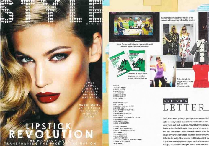 Sunday Times Style Section Green Boar smaller3